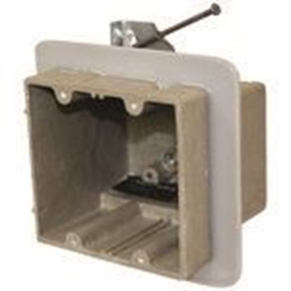 Picture of Allied Moulded 2302-HNKV2 Two gang electrical box for use with nonmetallic sheathed cable