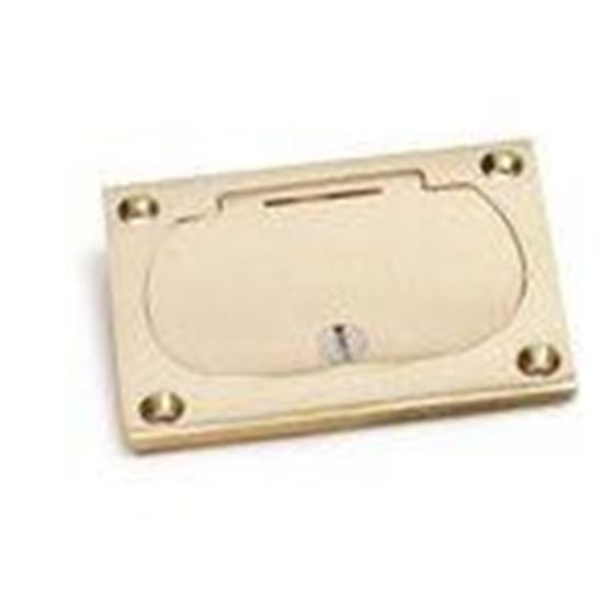 Picture of Lew 6304-DFB-1 Hinged Cover for Duplex, Brass