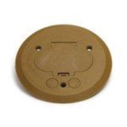 Picture of Lew PFC-G Flanged Cover, Plastic, Gold