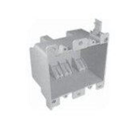 """Picture of Cantex EZ25DO Switch/Outlet Box, 2-Gang, Depth: 2-3/4"""", Brackets, Non-Metallic"""