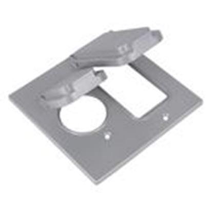 Picture of Red Dot 2CCSG Weatherproof Cover, 2-Gang, Type: Single Receptacle/GFI