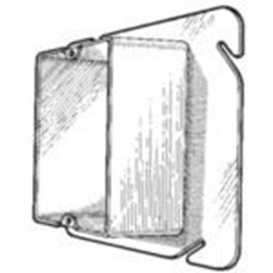 """Picture of Mulberry Metal 11366 4-11/16"""" Square Cover, Type: (1) GFI, Raised: 2"""", Steel"""