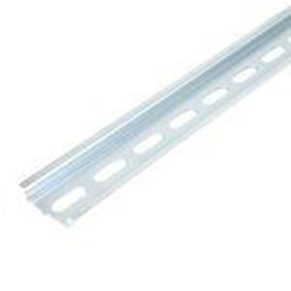 Picture of Entrelec 0101 508.04 DIN Rail, Slotted, Zinc Passivated Galvanized Steel, 35mm x 7.5mm x 1m