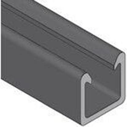 """Picture of Power-Strut 20P-2000 Fiberglass Channel - No Holes, 1-5/8"""" Deep, 1-5/8"""" Wide, 10' Length, Black"""