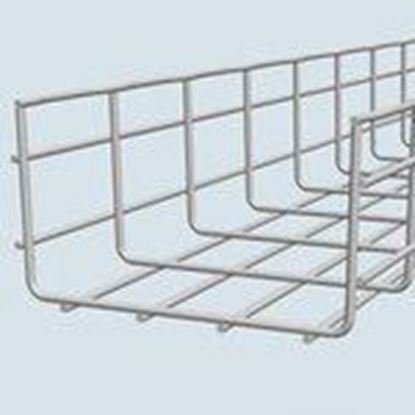 "Picture of Cablofil 1031 Cable Tray, Basket, Steel, 4"" Deep, 24"" Wide, 10' Long"