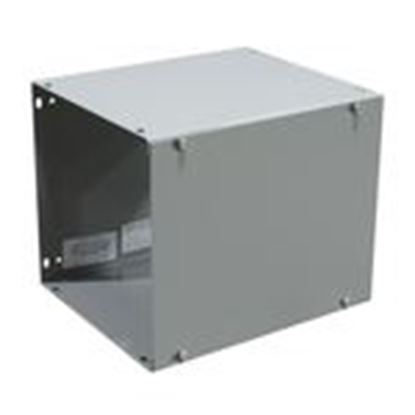 """Picture of Milbank 121248-GSC1-NK Wireway, Type 1, Screw Cover, 12"""" x 12"""" x 48"""", Steel, Gray, No KOs"""