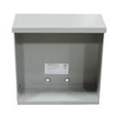 """Picture of Milbank 12126-SC3R-NK Enclosure, NEMA 3R, Screw Cover, 12"""" x 12"""" x 6"""", Painted, No KOs"""