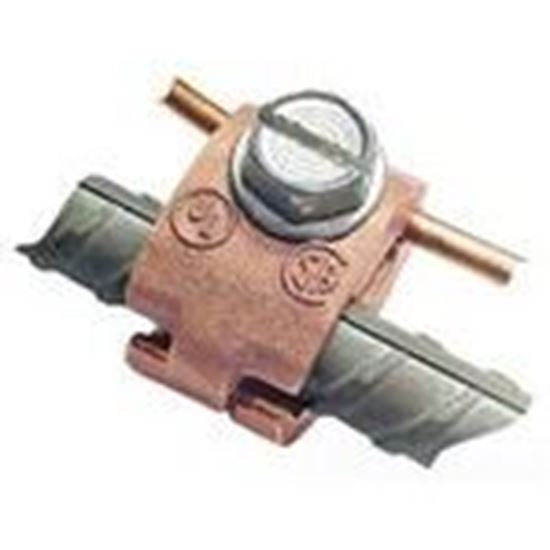 """Picture of Greaves J32-DB Rebar Ground Clamp, 1/2 to 3/4"""", 6 to 4/0 AWG, Bronze"""