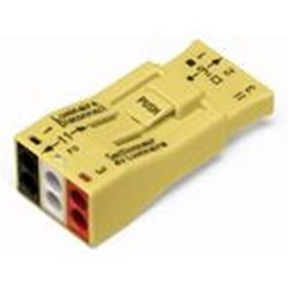 Picture of Wago 873-903 Luminaire Ballast Disconnect, 3-Pole, Push-In Type, 18 - 12 AWG