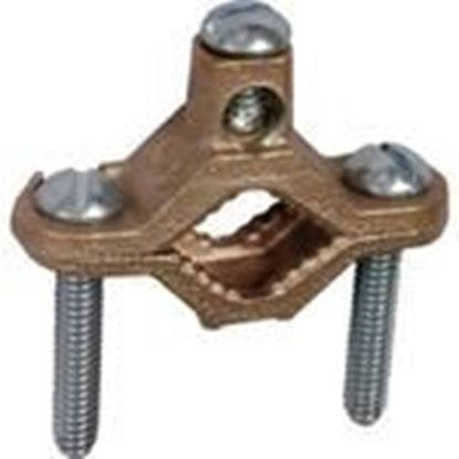 """Picture of Dottie 1001 Bare Wire Ground Clamp, 2-1/2"""" - 4"""", 10 - 2 AWG, Bronze"""