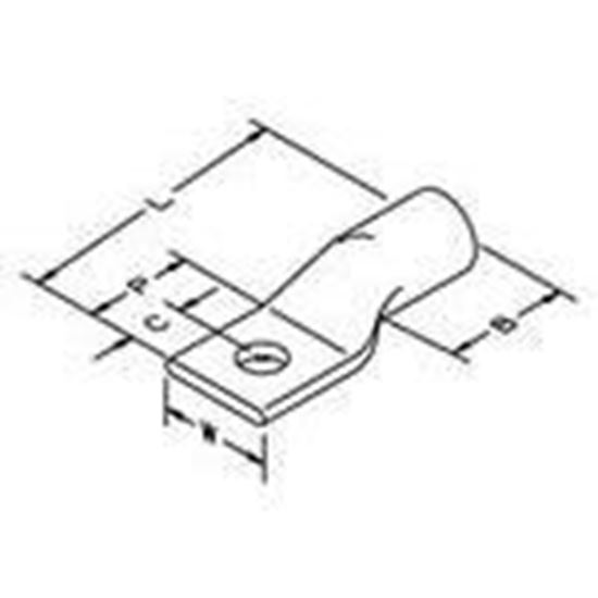 Picture of 3M 30016 Copper One-hole Lug