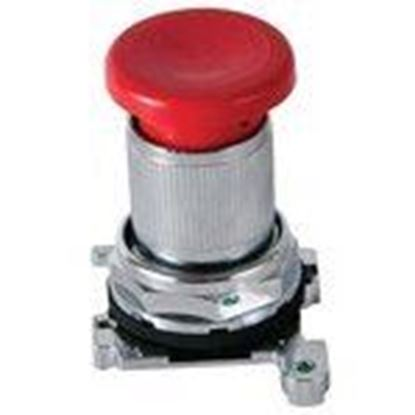 Picture of Eaton 10250ED1043-4 Latch-In, Twist-To Release Operator, Red Mushroom Button