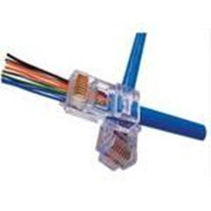 Picture of Platinum Tools 100003C Modular Plug, EZ-RJ45 Cat 5e, 24AWG