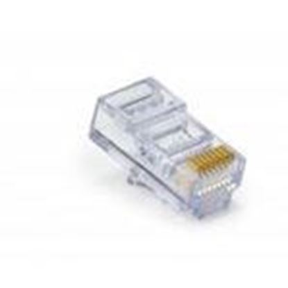 Picture of Platinum Tools 100010C Modular Plug, EZ-RJ45 Cat 6, 23AWG