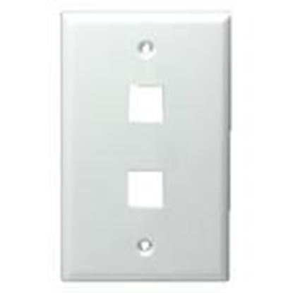 Picture of DataComm Electronics 20-3002-WH 2-Port Blank Wall Plate