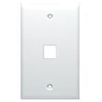 Picture of DataComm Electronics 20-3001-WH Wallplate, Box Mount, 1-Port, 1-Gang White