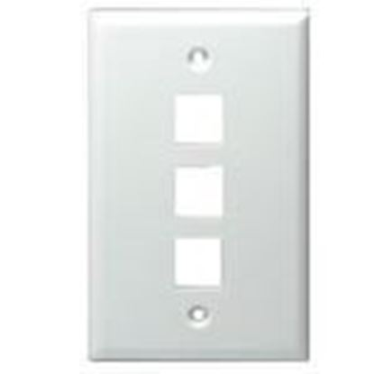 Picture of DataComm Electronics 20-3003-WH 3-Port Blank Wallplate
