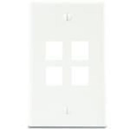 Picture of DataComm Electronics 20-3004-WH Wallplate Box Mount 4-Port 1-Gang White