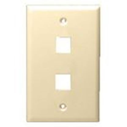 Picture of DataComm Electronics 20-3002-LA Wallplate, 1-Gang, 2-Port, Light Almond