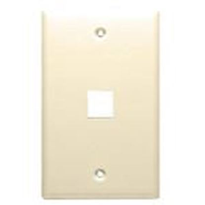 Picture of DataComm Electronics 20-3001-LA Wallplate, 1-Gang, 1-Port, Light Almond