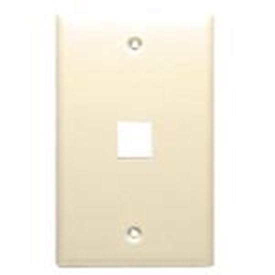 Picture of DataComm Electronics 20-3001-LA Wallplate, 1-Gang, 1-Port, Light Almond