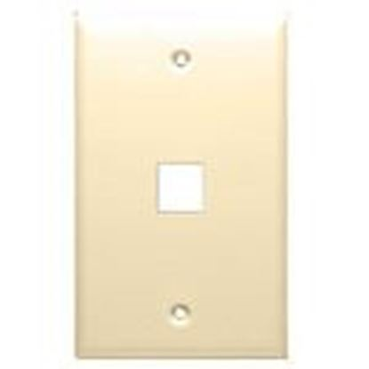 Picture of DataComm Electronics 20-3001-IV Wallplate, 1-Gang, 1-Port, Ivory