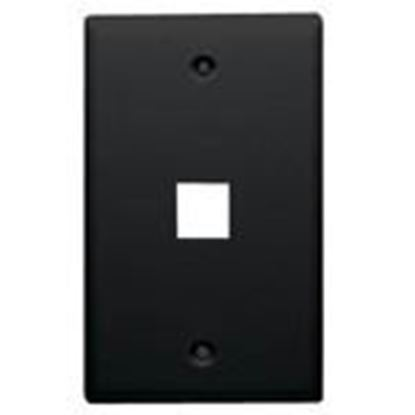 Picture of DataComm Electronics 20-3001-BK Wallplate, 1-Gang, 1-Port, Black