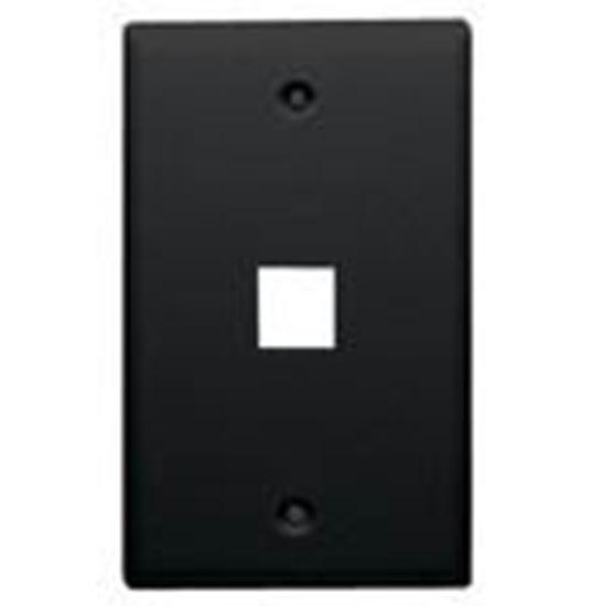 Picture of DataComm Electronics 20-3001-BK Wallplate, 1-Gang, 1-Port, Black