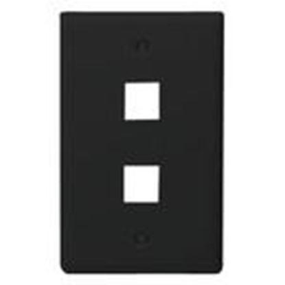 Picture of DataComm Electronics 20-3002-BK Wallplate, 1-Gang, 2-Port, Black