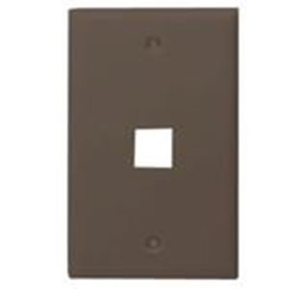 Picture of DataComm Electronics 20-3001-BR 1-Port Blank Wall Plate
