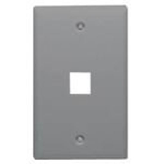 Picture of DataComm Electronics 20-3001-GY Wallplate, 1-Gang, 1-Port, Grey