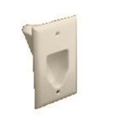 Picture of DataComm Electronics 45-0001-LA Recessed Plate, 1-Gang, Light Almond
