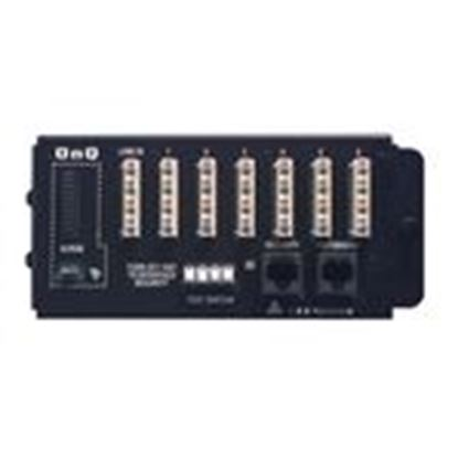 Picture of ON-Q 1267062-01-V1 1 x 6 Basic Telecom Module, 6 Telephone Outlets with 4 Lines Each