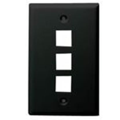 Picture of DataComm Electronics 20-3003-BK Wallplate, 1-Gang, 3-Port, Black
