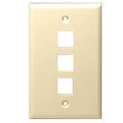 Picture of DataComm Electronics 20-3003-IV Wallplate, 1-Gang, 3-Port, Ivory