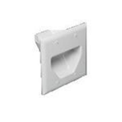 Picture of DataComm Electronics 45-0002-BK Recessed Plate, 2-Gang, Black