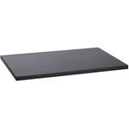 """Picture of Damac SH1924S3 Single-Sided Shelf, Solid, 19"""" x 15"""", Black"""