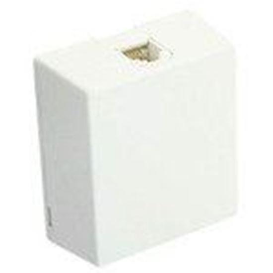 Picture of DataComm Electronics 20-2012 White Telephone Surface Mount Jack 6P4C
