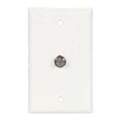 Picture of Eaton Arrow Hart 1172W Wall Plate and Connector, F Coaxial, 1 Gang, White, Steel