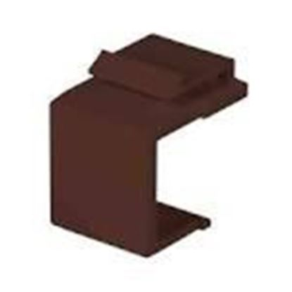 Picture of DataComm Electronics 20-3101-BR Snap-In Blank, Brown