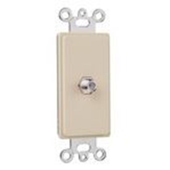 Picture of ON-Q 26CATV-I Wallplate Insert, Decora, F-Connector, Ivory