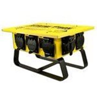 Picture of Coleman Cable 019703R02 Power Distribution Box, 50A Inlet, 50/30/20A Outlets, NEMA3R, Sled