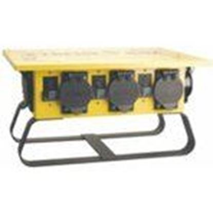 Picture of Coleman Cable 019603R02 Power Distribution Box, Portable, 50A Inlet, Twist Lock Receptacles