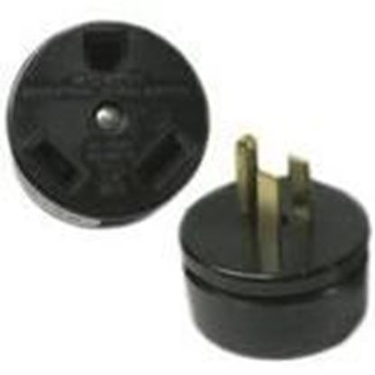 Picture of Midwest AD3020 Adapter, Temporary, 30A Female to 15A Male, 125VAC, Non-UL