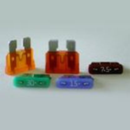 Picture of Littelfuse 0287010.H 10 Amp, 109mV ATOF Blade Fuses