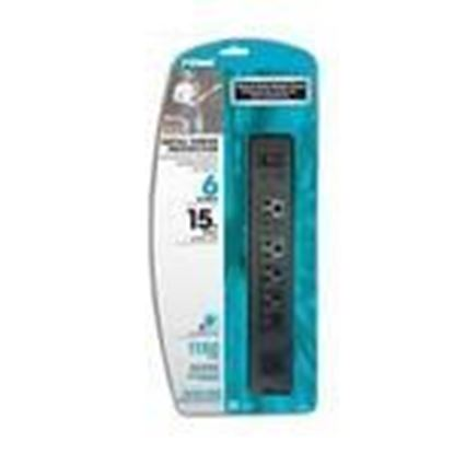 Picture of Prime Wire PB802135 15A, 120V, 1875W, 6 Outlet Power Strip, 15ft Cord