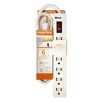 Picture of Coleman Cable 0414017801 6 OUTLET PWR STRIP 3 FEET