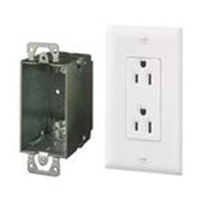 Picture of ON-Q 364569-02-V1 15 Amp, 125 Volt, Surge NEMA 5-15R, White