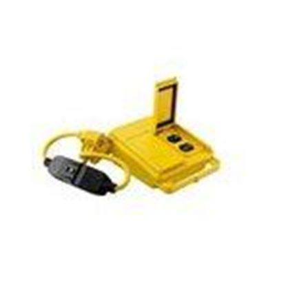 Picture of Coleman Cable 028168802 GFCI Quad Box, 20A, 120V, 6' Cord, Yellow