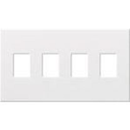 Picture of Lutron VWP-4-GR Wallplate, 4-Gang, Dimmer/Switch, Gray